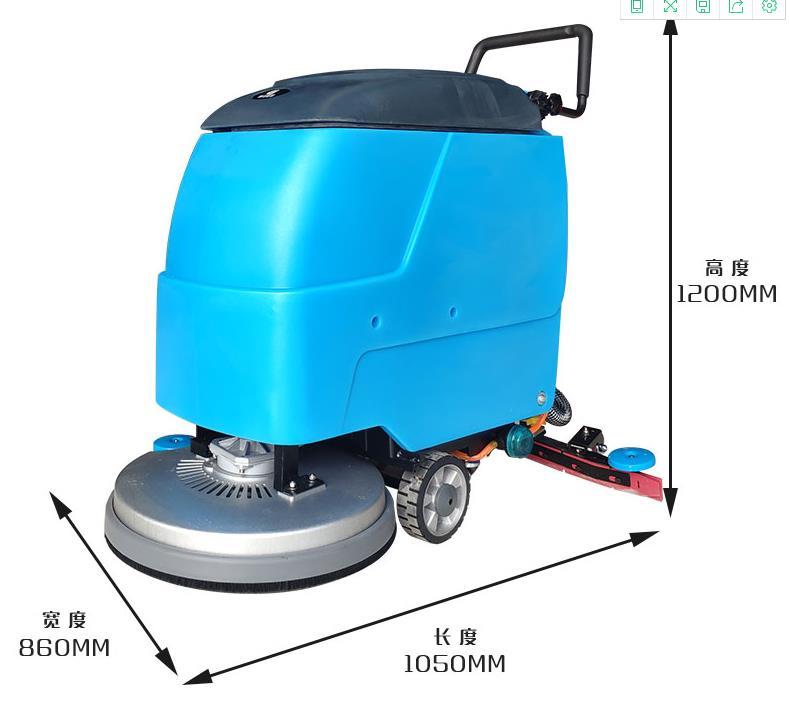 手推式洗地机的正确操作方法
